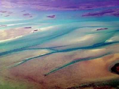 Grand Bahama Banks from the air