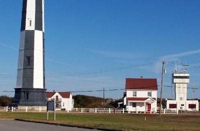 Bottom of Cape Henry light and lightkeeper's house