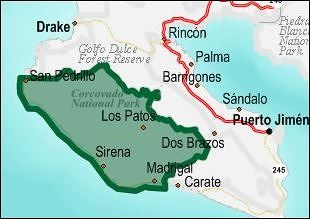 Map - Corcovado National Park