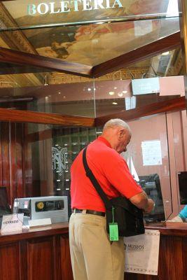 Bob buying tickets