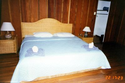 Bed in the Arenal Lodge