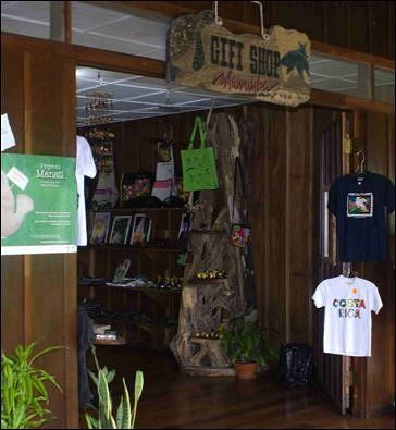 Necessities and Souvenirs shop near our new room