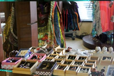 jewelry laid out in rows