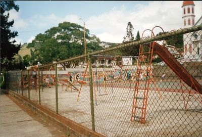 Playground next to the church - Zarcero