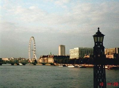 Looking up the Thames to the London Eye