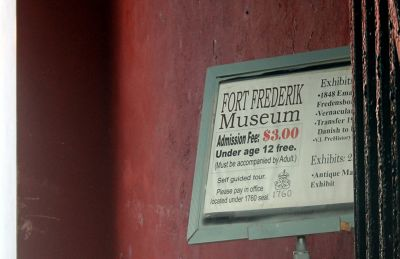 Sign at the entrance - Frederiksted