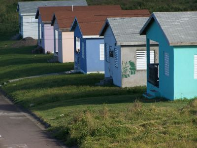 Row of little houses - Saint Kitts and Nevis