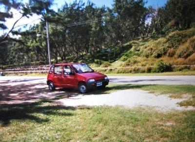 The car we rented. - Barbados