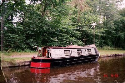 Private Canal Boat  with wind generator