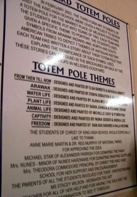 Sign about designing the totem for the Dockyard