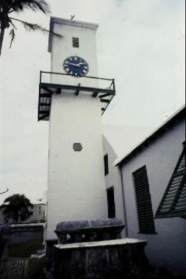 Church clock tower 1995
