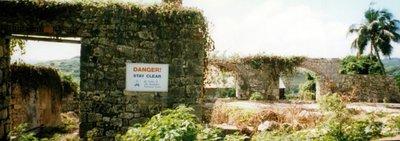 Danger sign at Morgan Lewis Mill