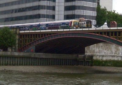 Parked Trains from the Thames