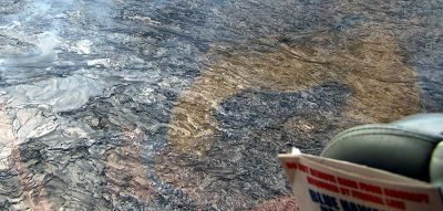 Lava flow from a helicopter - Hawaii (State of)