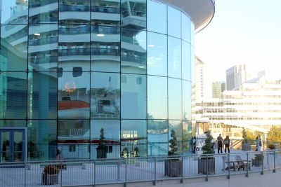 Reflections in the glass of the new terminal 2016