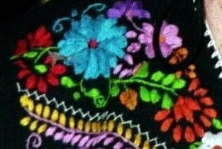 Detail_of_embroidery on the dress I bought in 1998 for $10.00