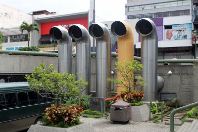Ventilation stacks for the Gold museum