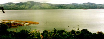 Lake Arenal with kayaker