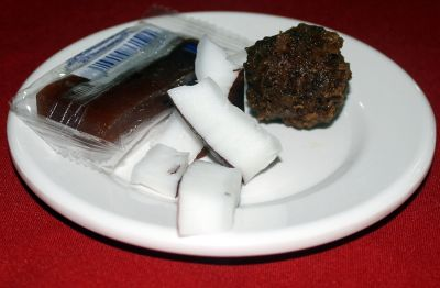 Coconut and chocolate for dessert