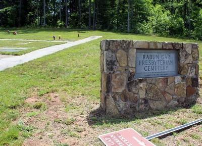 Rabun Gap cemetery sign