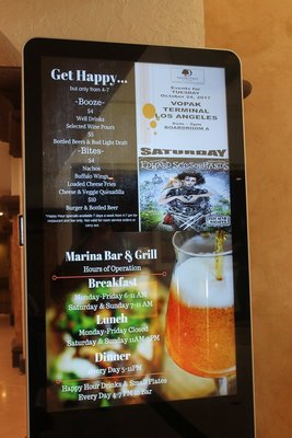 sign about happy hour