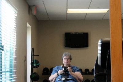 exercise room in the hotel
