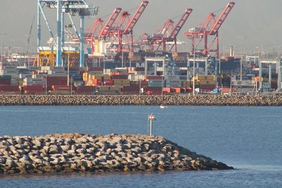 Cranes and jetty