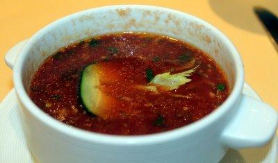 Cold Spanish gazpacho - lunch