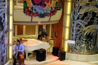 Musicians in the atrium