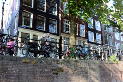 bikes by the canal