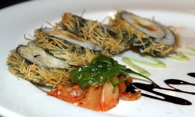 tempura vegetable sushi