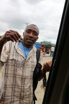 Vendor at the van window