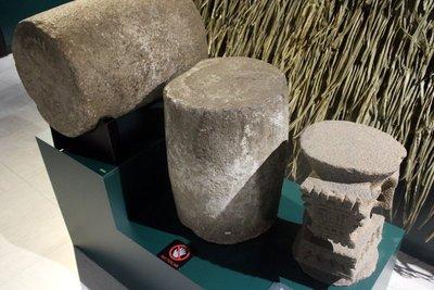 stone barrels and seats