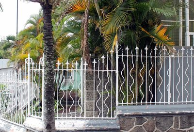 decorative iron fence