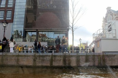 line at Anne Frank house