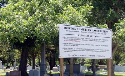 Morton Cemetery rules