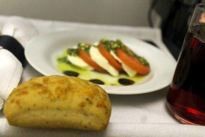 Tomato and mozzarella as a starter