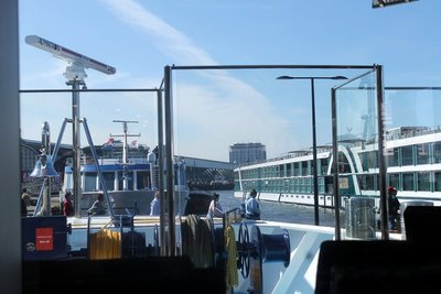 View from the lounge of the bow