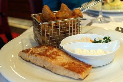 Bob's salmon and fries