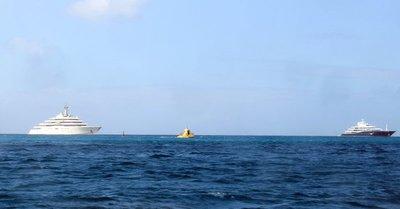 Yellow submarine and big yachts
