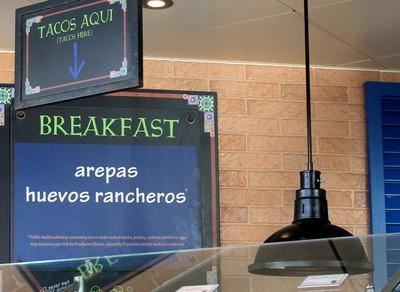 Huevos rancheros sign