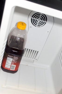 My cranberry juice in the refrigerator