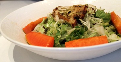 lemon chicken salad with papaya