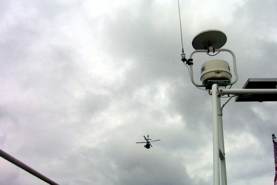 Helicopter (and our radar and tv antenna)