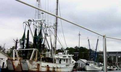 Passing the shrimp boats