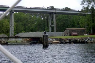Approaching Fixed Bridge Alligator-Pungo canal