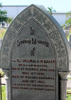 Stephen Bethell's and The Rev Baker's gravestone