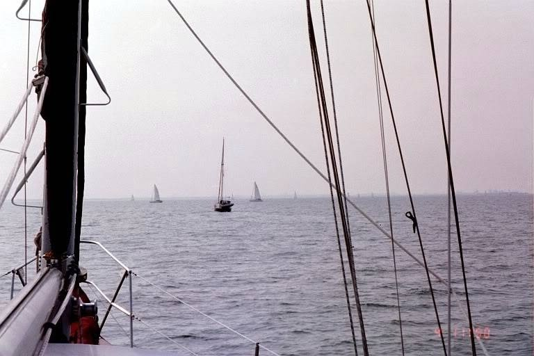 Following another sailboat