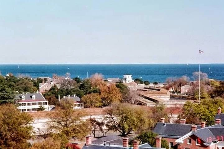 Fort Monroe from the top of the Chamberlain hotel