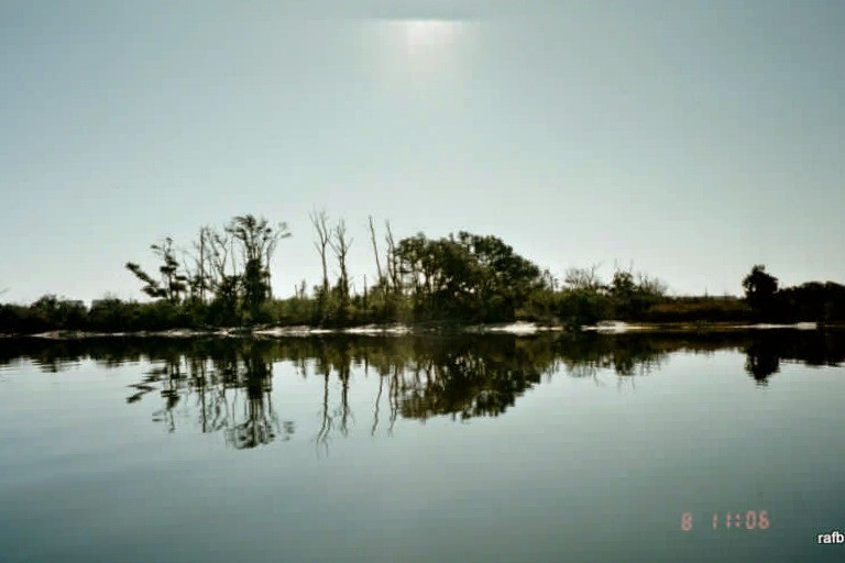 Morning reflections from the spoil island in Bogue Sound